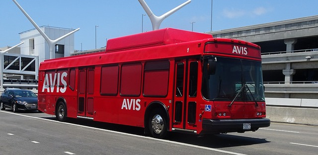 Avis Shuttle Bus at LAX
